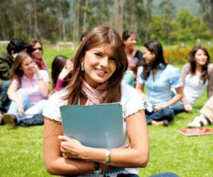 Curso en un campus universitario